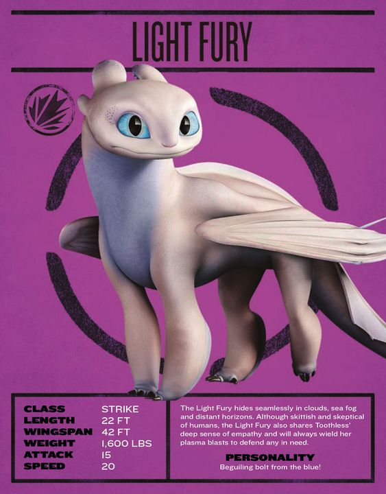 how to train your dragon image of light fury