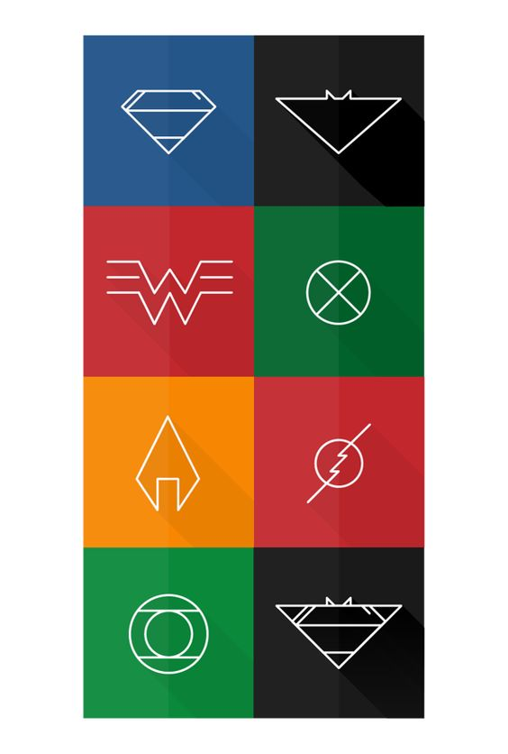 justice league poster LOGOS