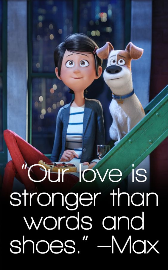 the secret life of pets poster of famous dialogue by max