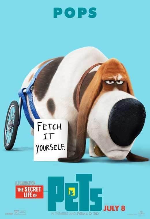 secret life of pets poster of pops