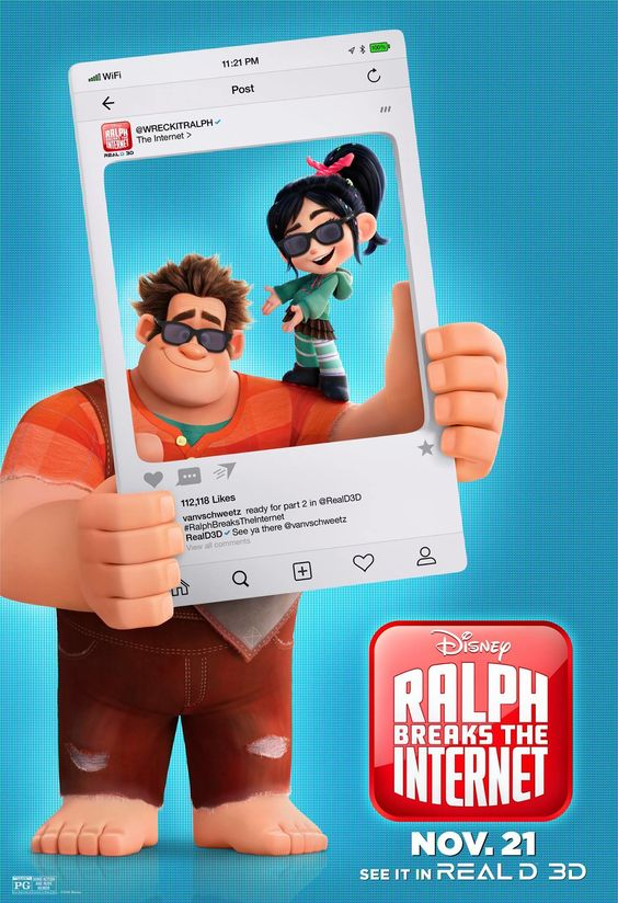 ralph breaks the internet poster of ralph and vanellope