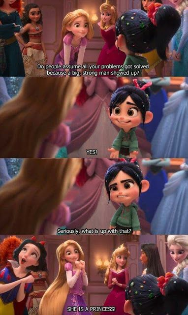 ralph breaks the internet image of famous dialogue by princess
