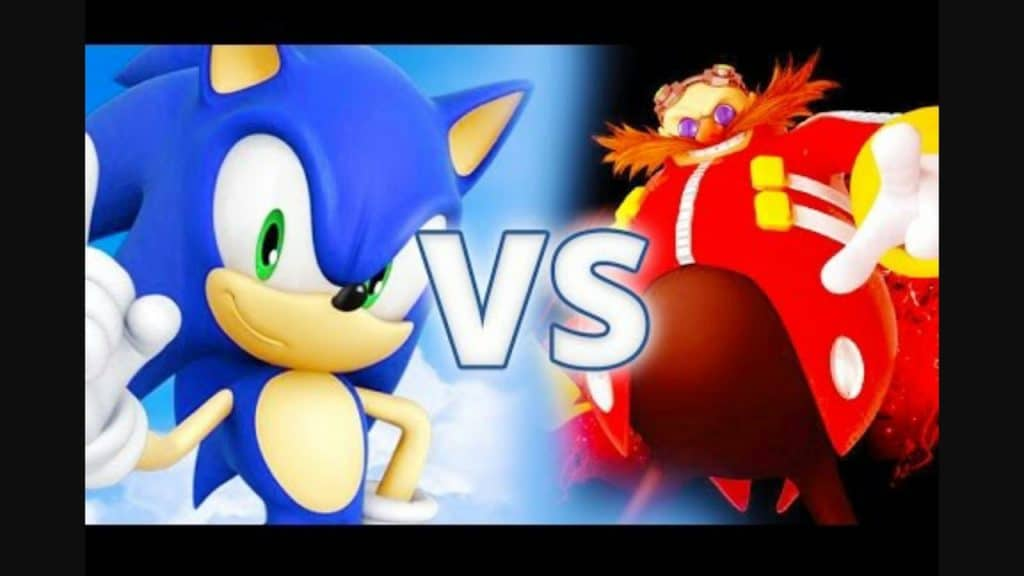 sonic the hedgehog image of sonic and eggman