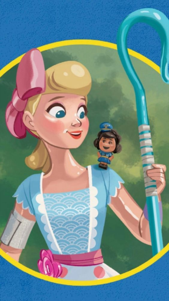 toy story 4 image of bo peep and giggles