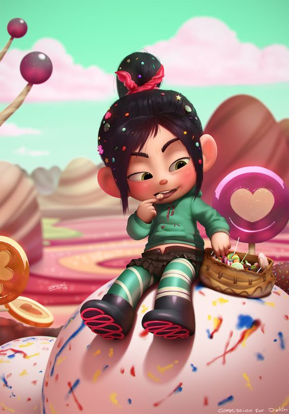 wreck it ralph poster of vanellope