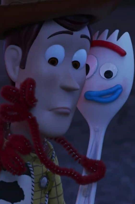 toy story 4 image of woody and forky