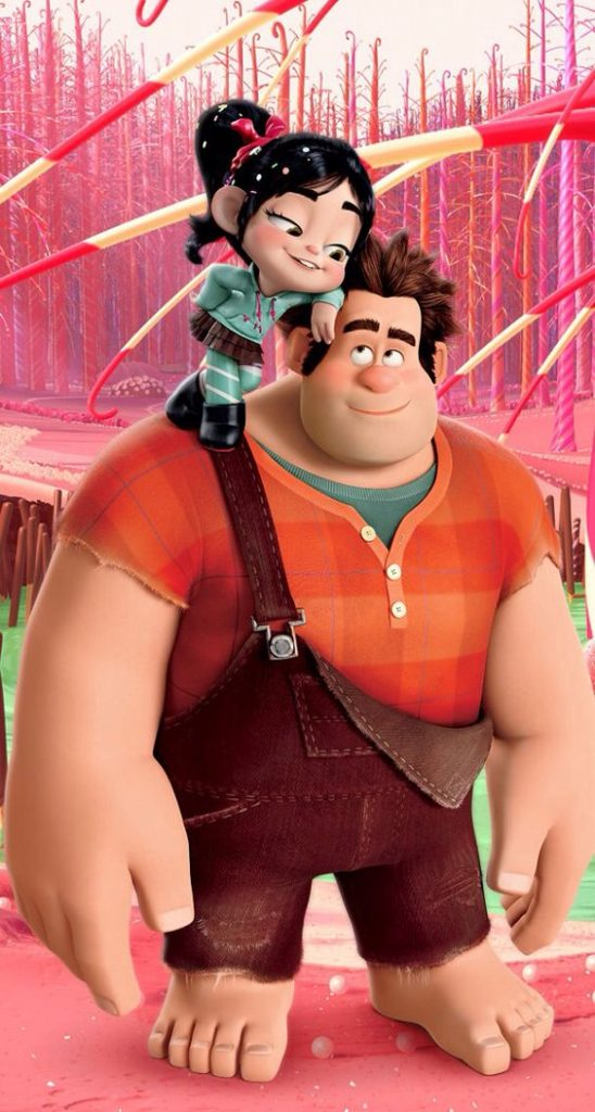 wreck it ralph image of glitch and ralph