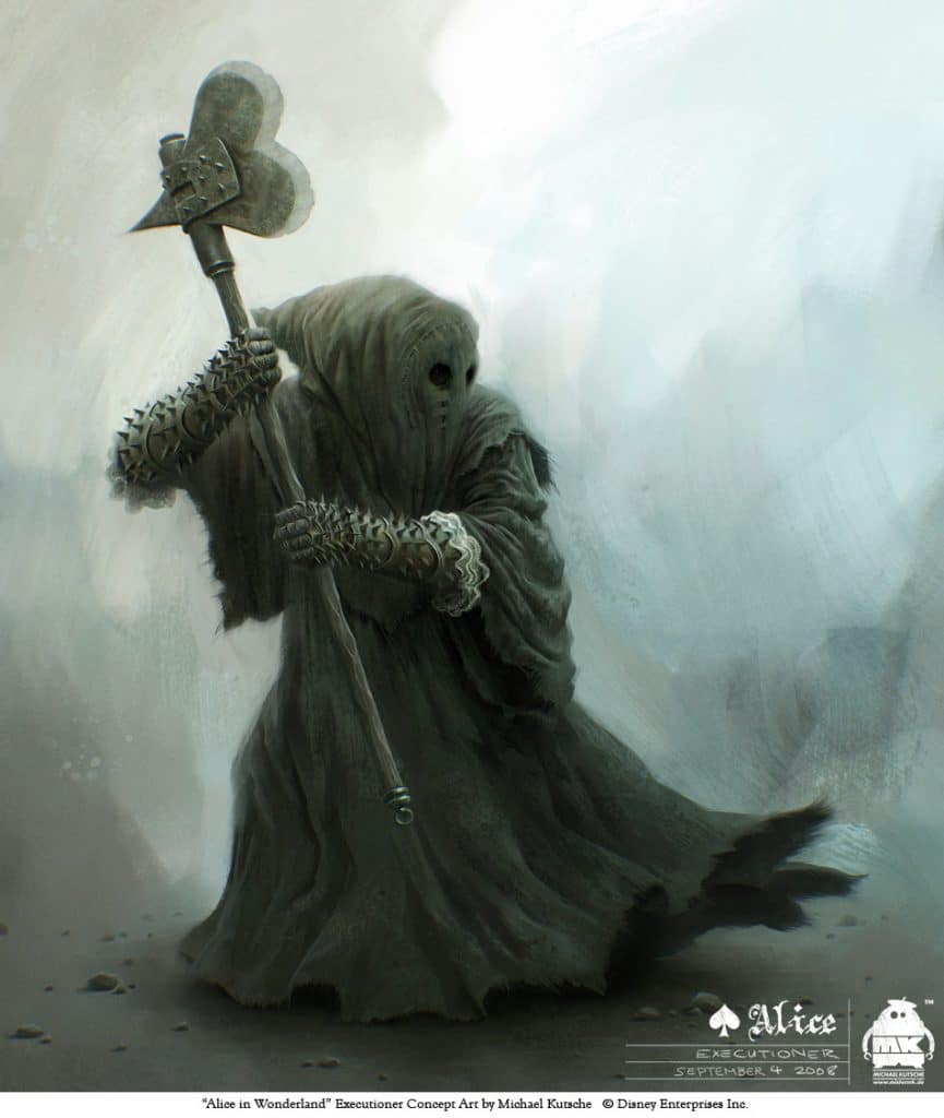 alice in wonderland image of executioner