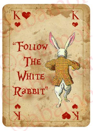 alice in wonderland iamge of white rabbit