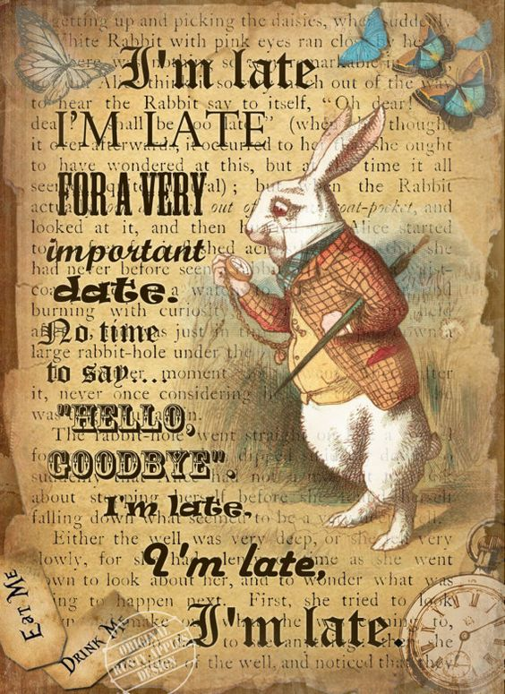 alice in wonderland image of white rabbit