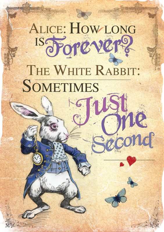 alice in wonderland image of famous quote