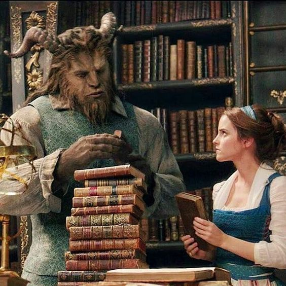 beauty and the beast image of library