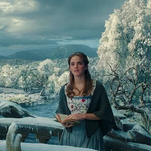 beauty and the beast image of belle and book