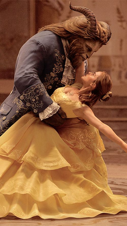 beauty and the beast image of beast and beauty dancing