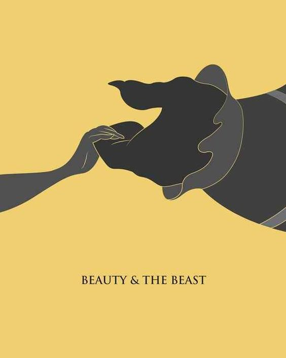 beauty and the beast image of fanart poster