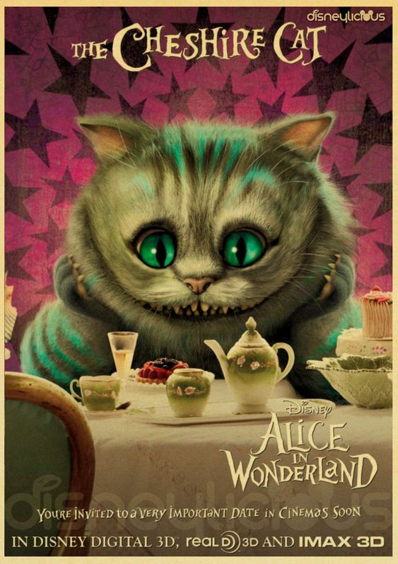 alice in wonderland image of cheshire the cat