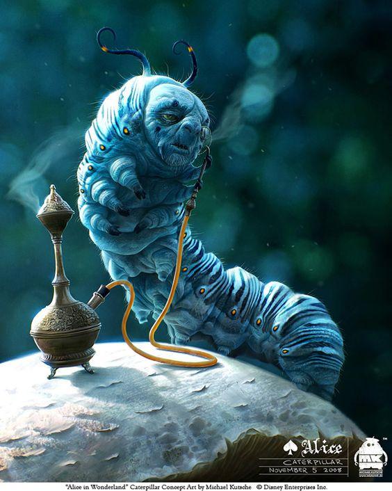 alice in wonderland image of caterpillar