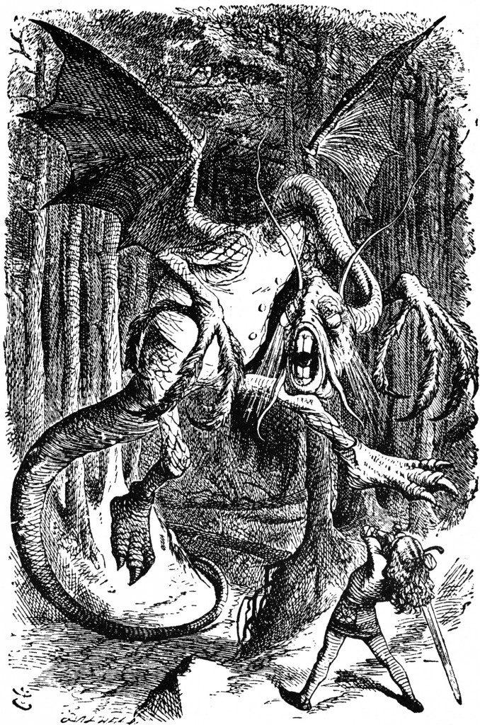 alice in wonderland image of jabberwocky