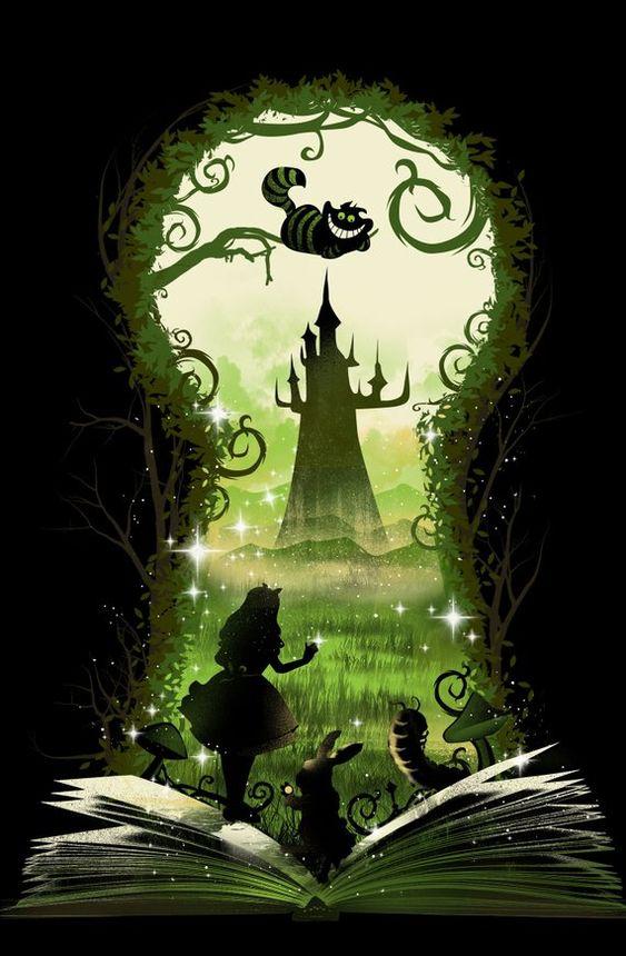 Картинка замочная скважина на зеленом фоне алиса в стране чудес