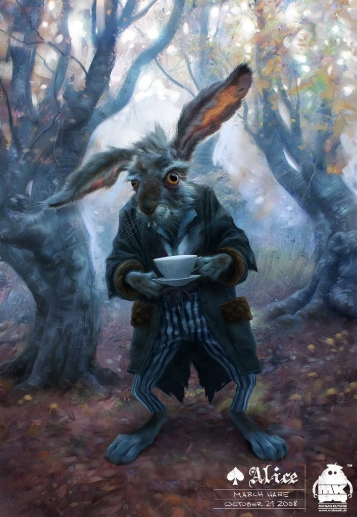alice in wonderland image of march hare